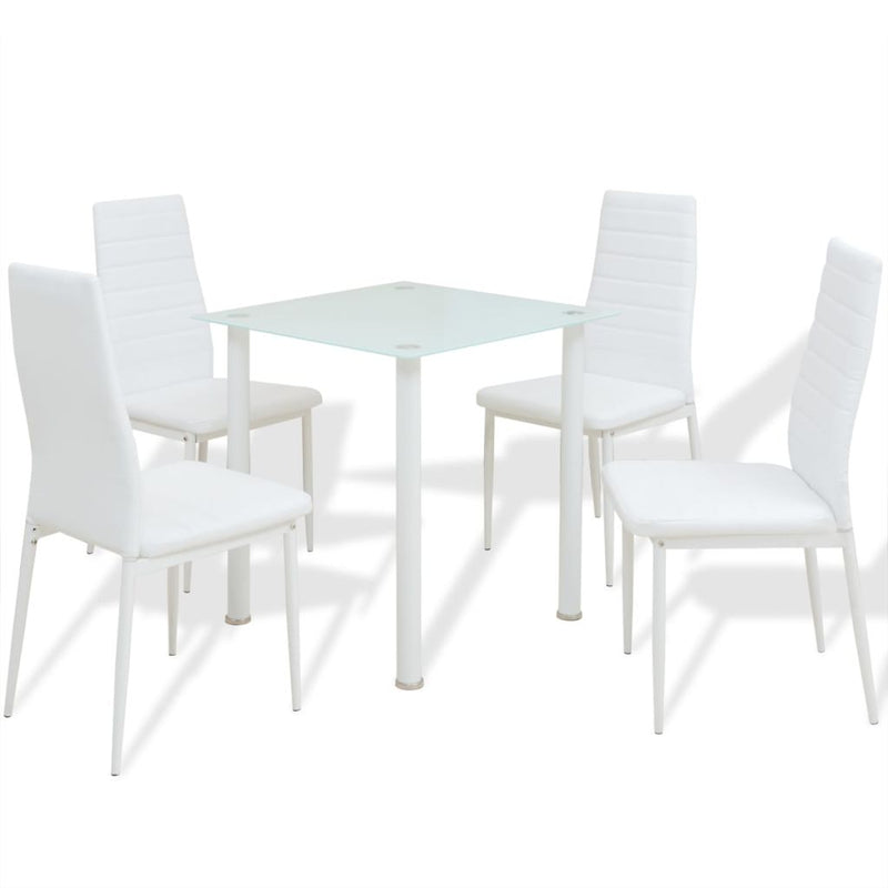 Dining Table And Chairs Set (5 Pcs)