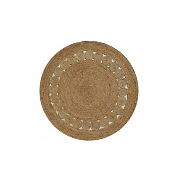 Dot Rose Natural Rug