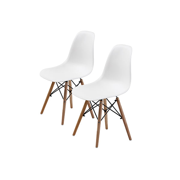 2 Pcs Dsw Dining Chair White