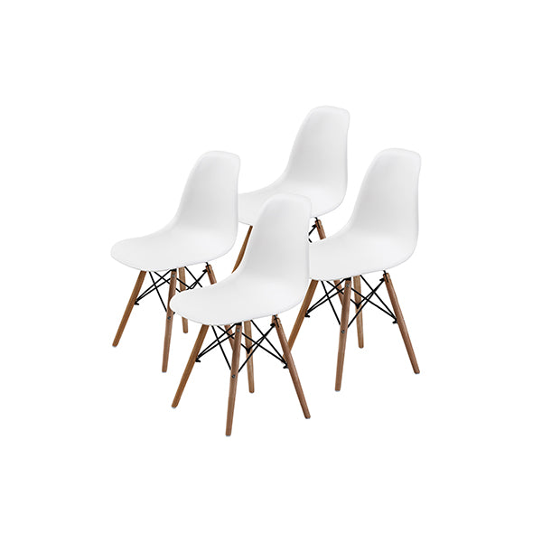 4 Pcs Dsw Dining Chair White