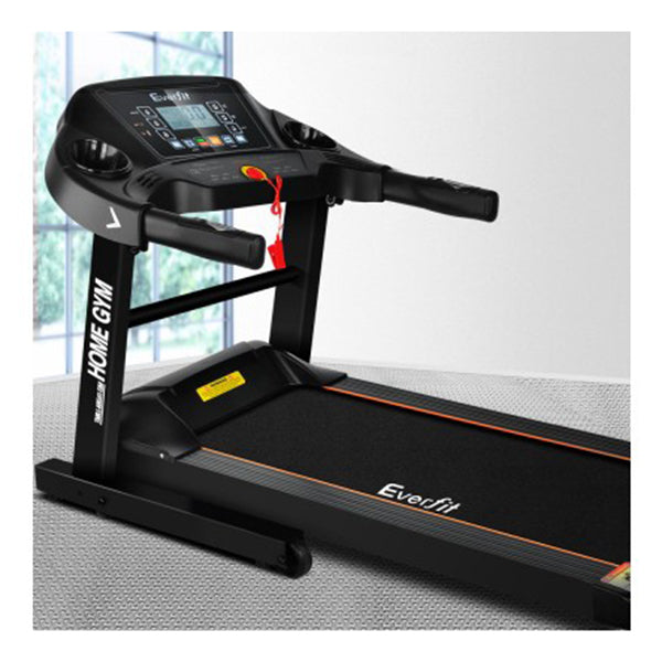 Electric Treadmill 40cm Running Home Gym Fitness Machine Black