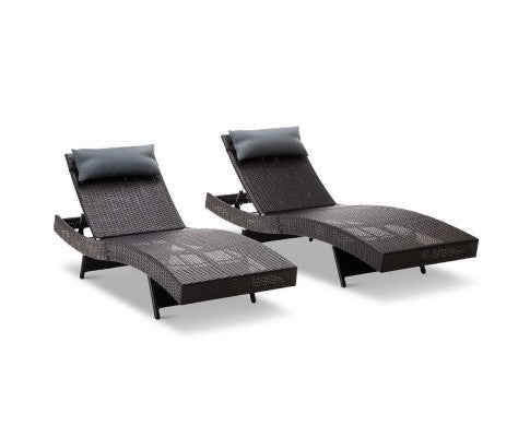 Set of 2 Outdoor Sun Lounge