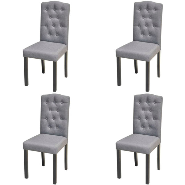 Fabric Dining Chairs - Dark Grey (Set of 4)