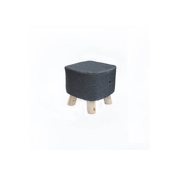 Fabric Ottoman Foot Stool Rest Pouffe Wood Storage Padded Seat