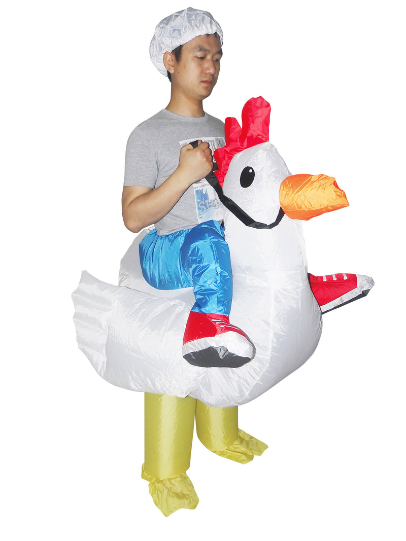 Fan Operated Costume - Chicken Fancy Dress Inflatable Suit