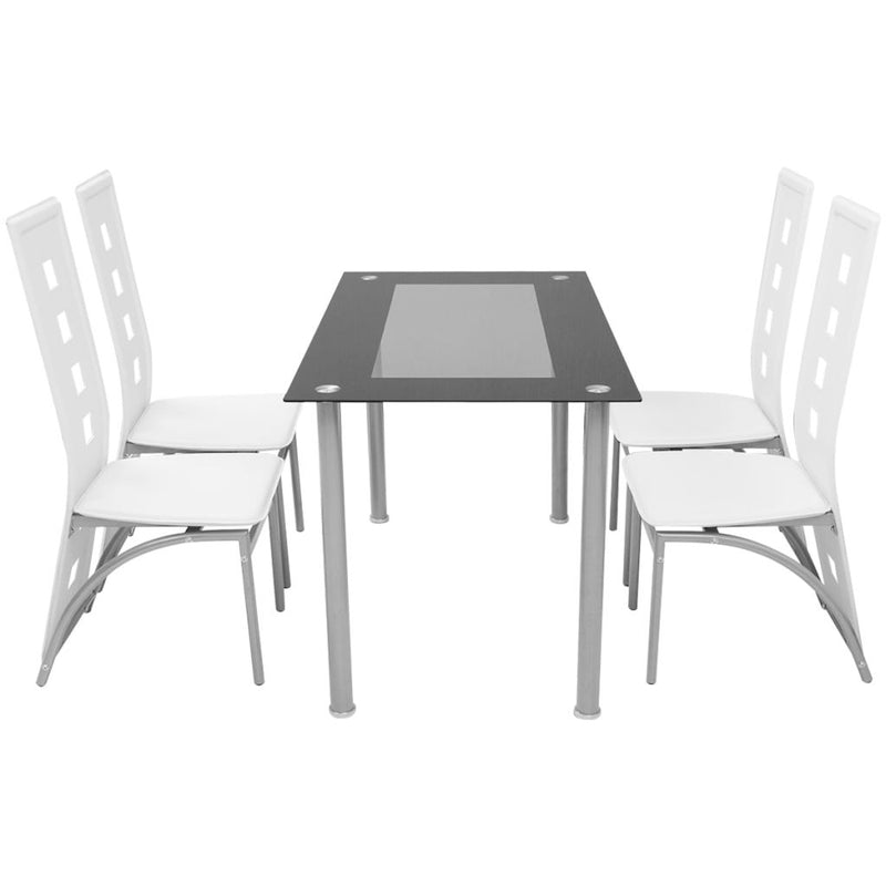 Five Piece Dining Set - White