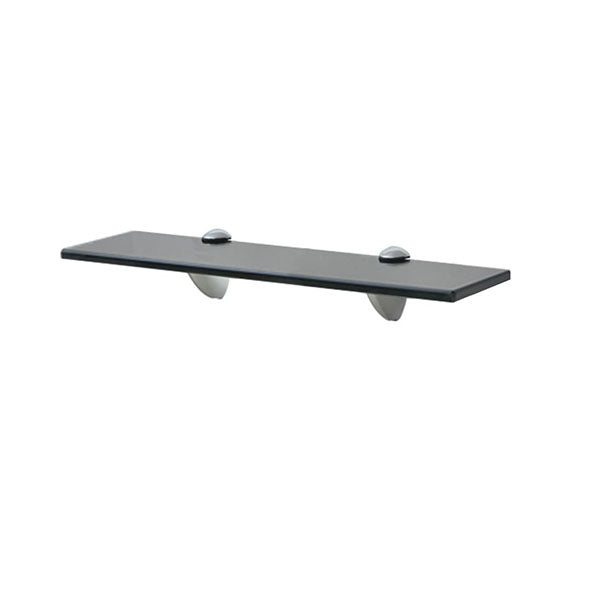 Floating Shelf Glass 40 X 10 Cm 8 Mm Black