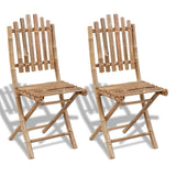 Fold-able Bamboo Chair (Set of 2)