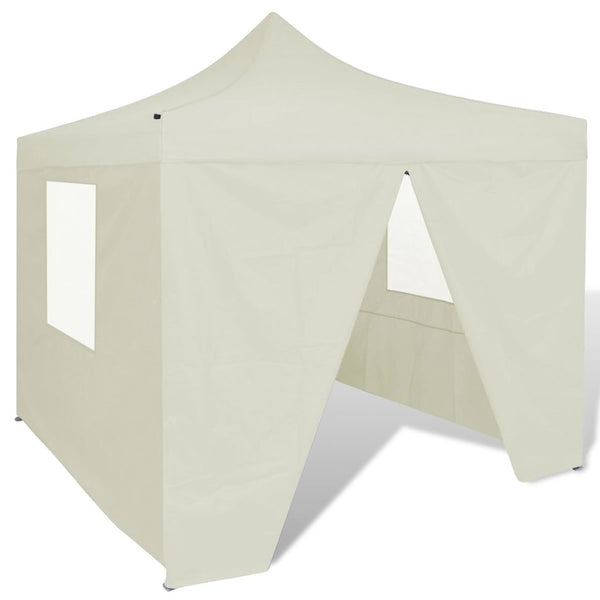 Fold-able Tent With Walls - Cream