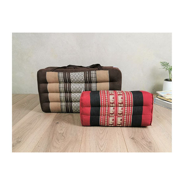 Foldable Meditation Cushion Brown And Seating Block Set Brwredele