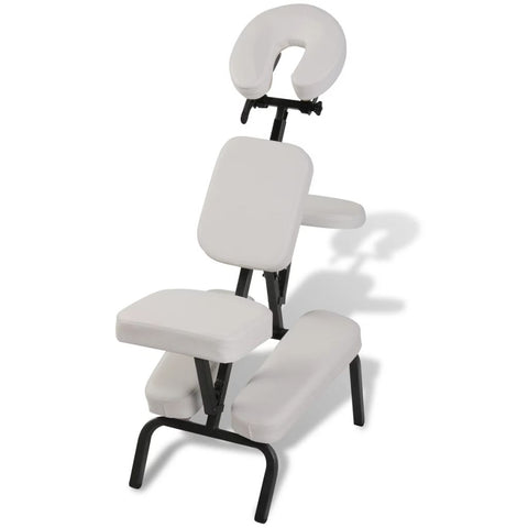 Foldable & Portable Massage Chair - White