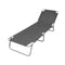Foldable Sunlounger With Adjustable Backrest Grey
