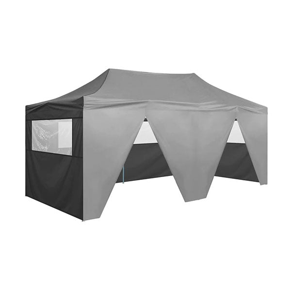 Folding Pop Up Party Tent With Sidewalls 3 X 6 M Anthracite