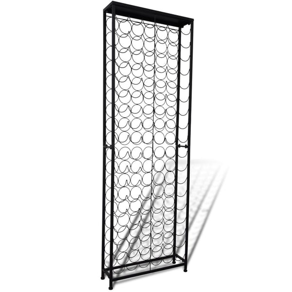 Free Standing Metal Wine Rack for 108 Bottles