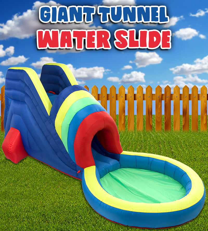 Giant Tunnel Soaker Waterslide With Air Pump