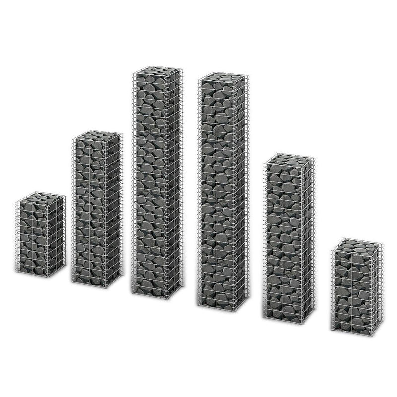 Gabion Basket Wall Different Sizes (Set of 6)
