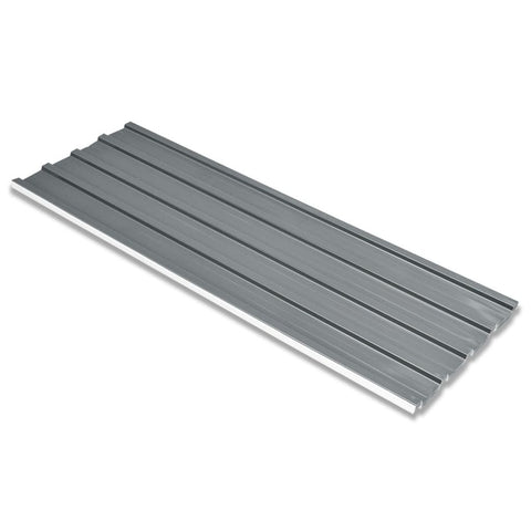 Galvanized Steel Roof Panels (12 Pcs) - Grey