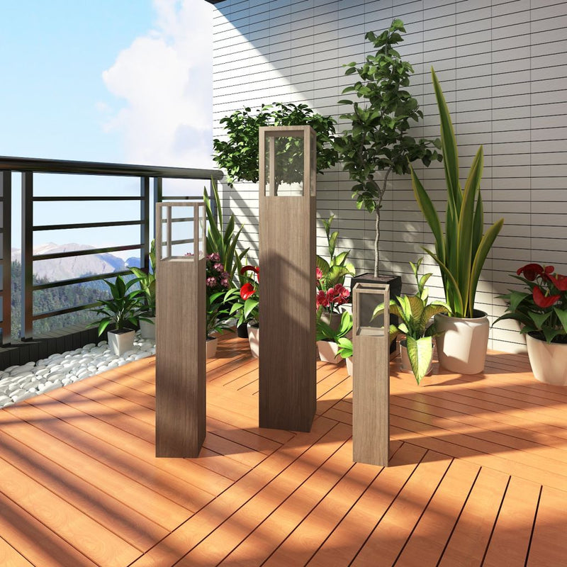 Garden Candle Stand Lighting Torch Lantern Set (3 Pcs)