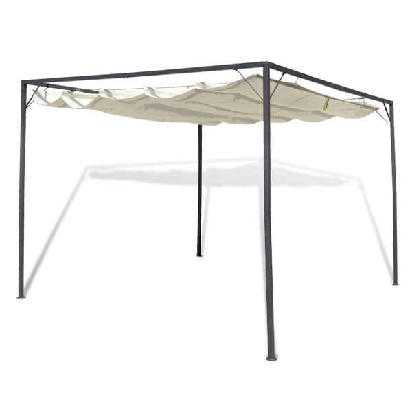 Garden Gazebo with Retractable Roof Canopy
