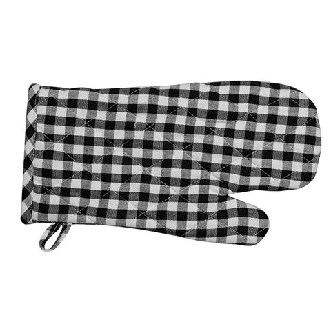 Gingham Oven Gloves - Set of 4