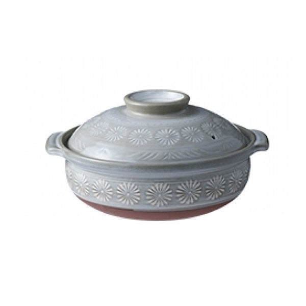 Ginpo Donabe Hana Mishima Ceramic Hot Pot