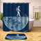 Funny Shower Curtains - An Astronaut Mows The Moon Shower curtain