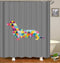 Colorful Dachshund Dog Shower Curtain
