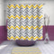Grey Vs Yellow Chevron Shower Curtain