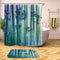 Bluish Green Bamboo Shower Curtain