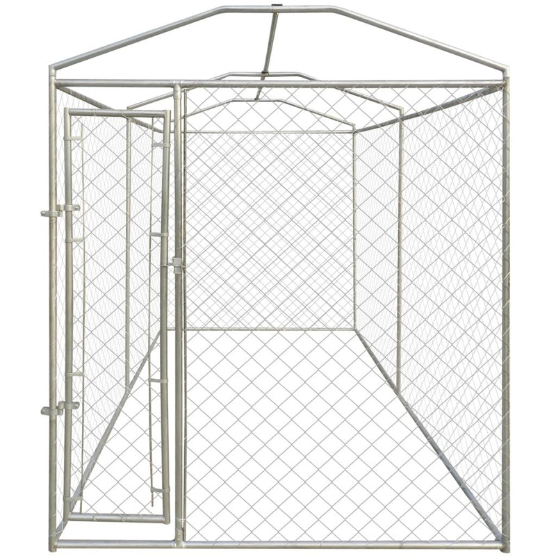Heavy-Duty Dog Kennel With Canopy Top 200 x 400 x 235 Cm