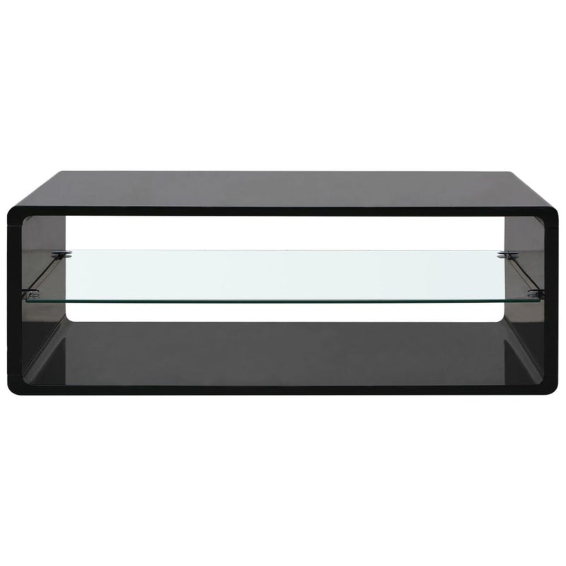 High Gloss Coffee Table With Tempered Glass