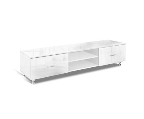 High Gloss TV Unit - 160 cm FURNI-GLOSS-160TV-WH-AB