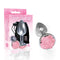 The 9's The Silver Starter - Silver 7.1 cm (2.8'') Butt Plug with Pink Rose Bottom