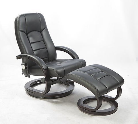 Deluxe Massage Recliner with Footrest - Black