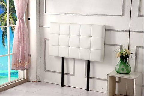 PU Leather Single Bed Deluxe Headboard Bedhead - White ING-HB-15