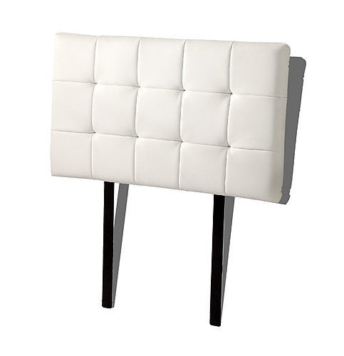 PU Leather Single Bed Deluxe Headboard Bedhead - White