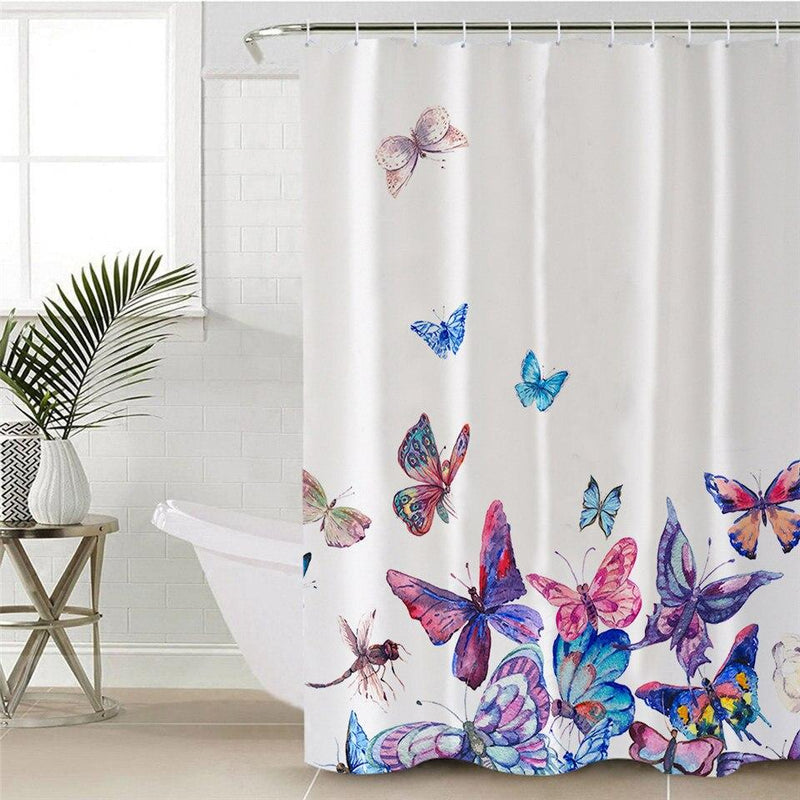 Butterflies Painting Shower Curtain