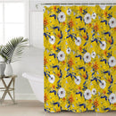 White and Orange Flowers Shower Curtain