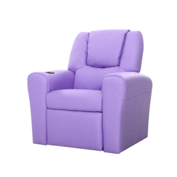 Kids Padded PU Leather Recliner Chair