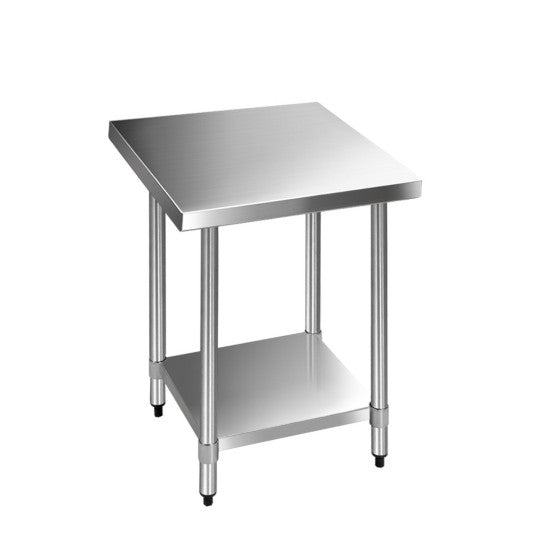 762 X 762Mm Commercial Stainless Steel Kitchen Bench