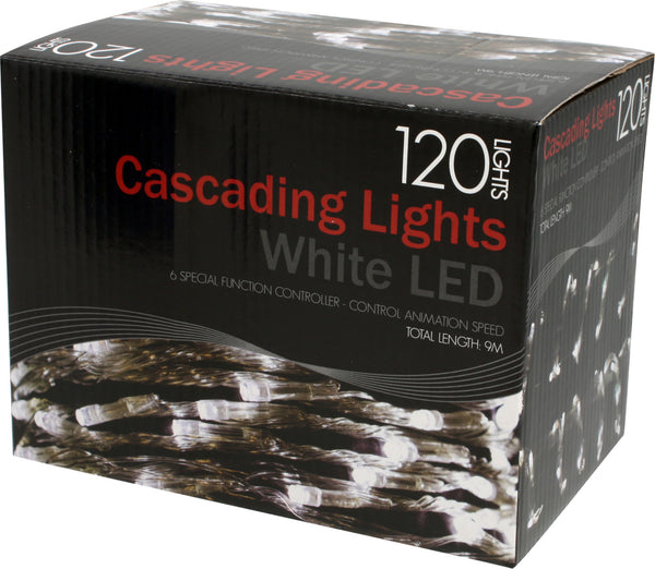 Lights 120 White Led Cascading 6M With Controller