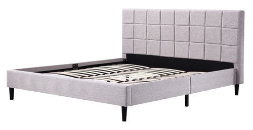 Linen Fabric King Deluxe Bed Frame Beige