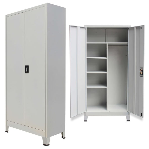 Locker Cabinet with 2 Doors Steel - Grey