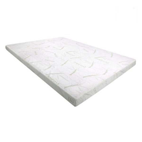 Cool Gel Memory Foam Mattress Topper Bamboo Cover 8Cm Mat