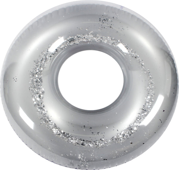 Metallic Silver Glitter Swim Ring