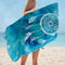 Blue Background Dream Catcher  Microfiber Beach Towel