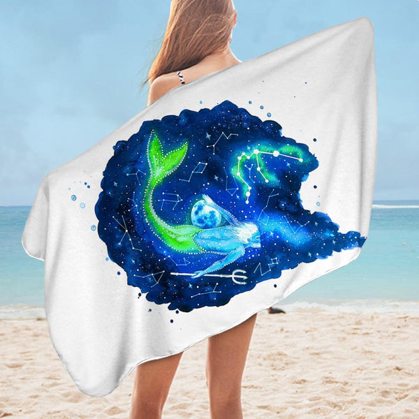 Zodiac Virgo Microfiber Beach Towel