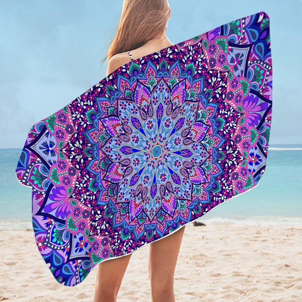 Loaded Mandala Microfiber Beach Towel