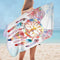 Soft Color Dream Catcher Eagle Microfiber Beach Towel