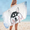 Funny and Cute Husky Microfiber Beach Towel